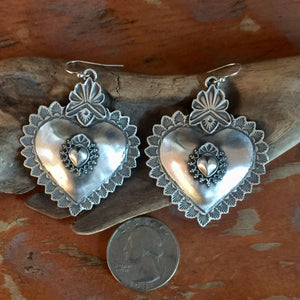 25% OFF Santa Fe Heart Repoussé with Taos Earrings EBH3