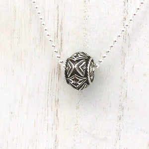Santa Fe Pearl Sterling Silver Rose Window Bead