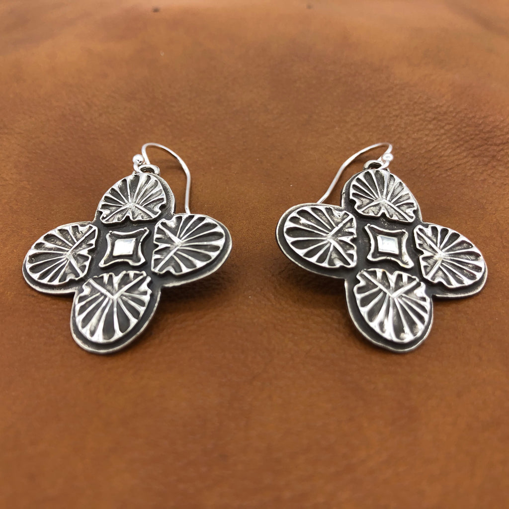 SALE E141 Sunrise Cross Earrings