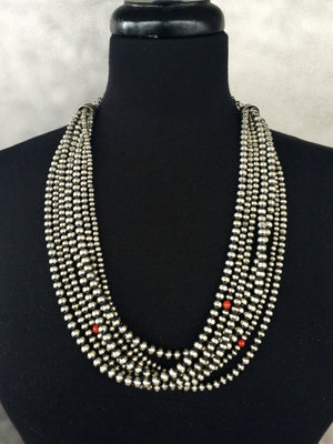 Multi Strand Santa Fe Pearl Necklace Navajo Pearls