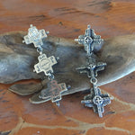 E113T Triple Tesuque Cross Earrings