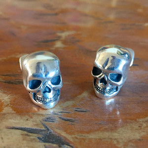 CLS8 Classic Full Skull Sterling Silver Cuff Links