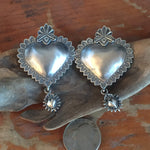 EBH8 Santa Fe Heart Taos Dangle Earrings