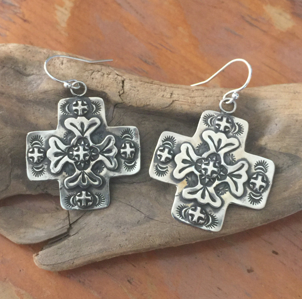 SALE Santa Fe Cross Earrings E110
