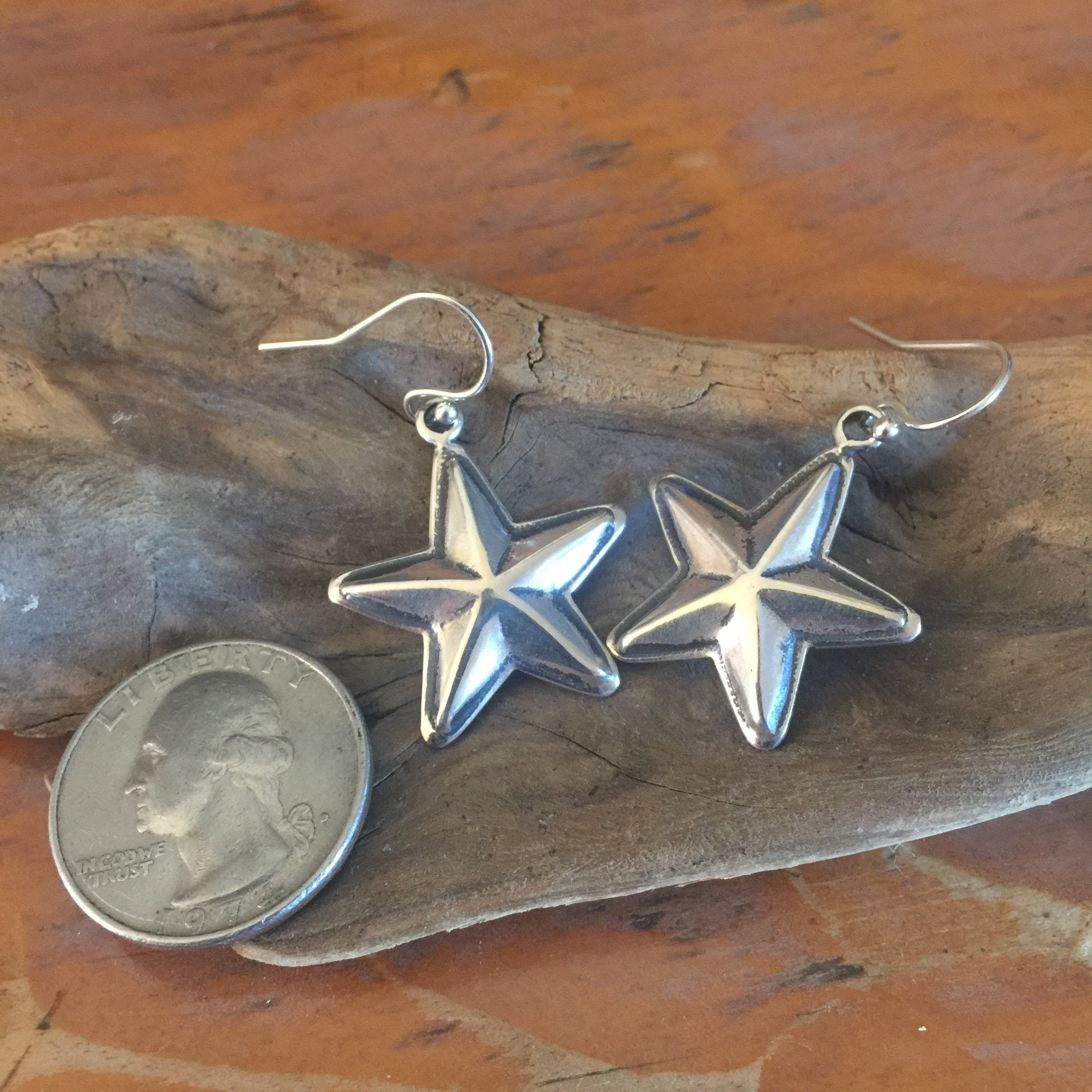 E306 Lone Star Sterling Silver Earrings