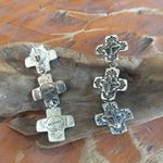 SALE Triple Galisteo Cross Earrings E94T