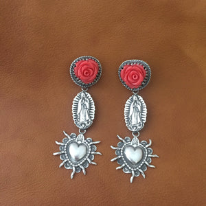 E195 In Guad We Trust Earrings