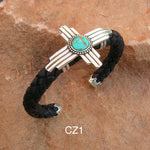 Zia Braided Leather Cuff