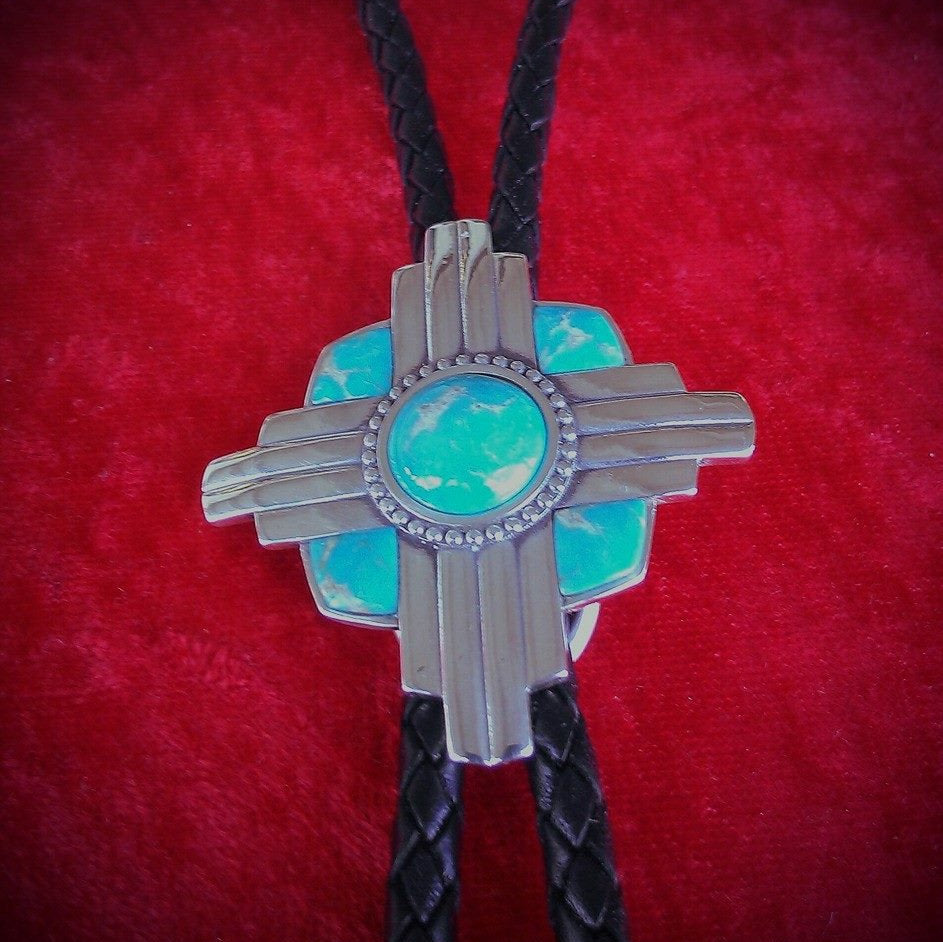 Zia Inlay Turquoise Bolo Necktie Exclusive Original Design