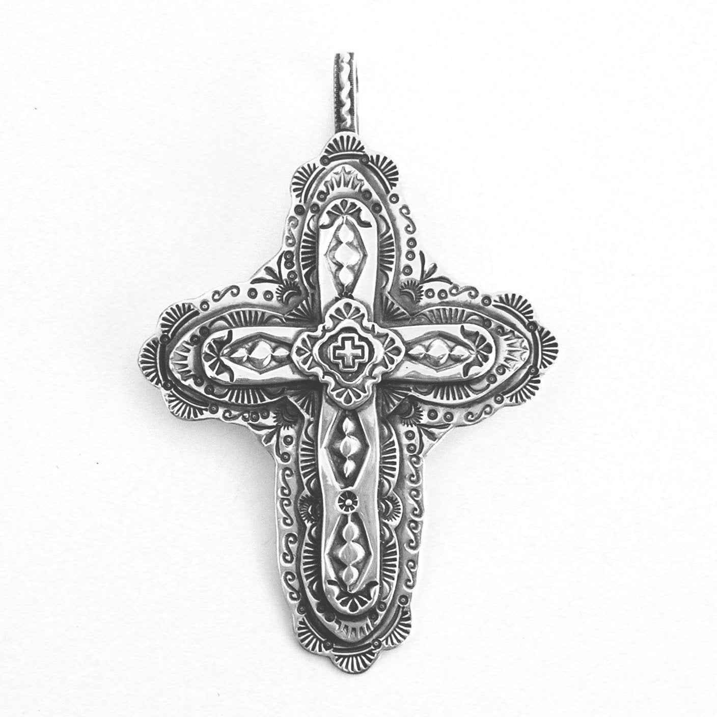 El Pueblo de la Cruz Village Cross Pendant