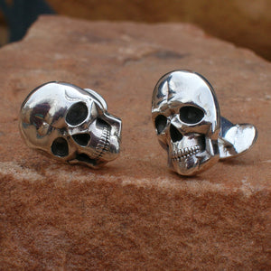 CL2 Sterling Silver Classic Skull Cuff Links