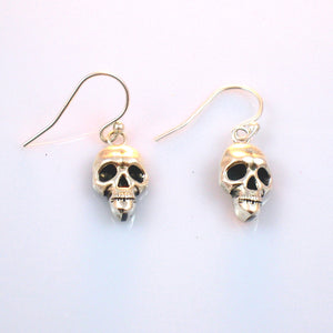 E20 Skinny Skull Earrings