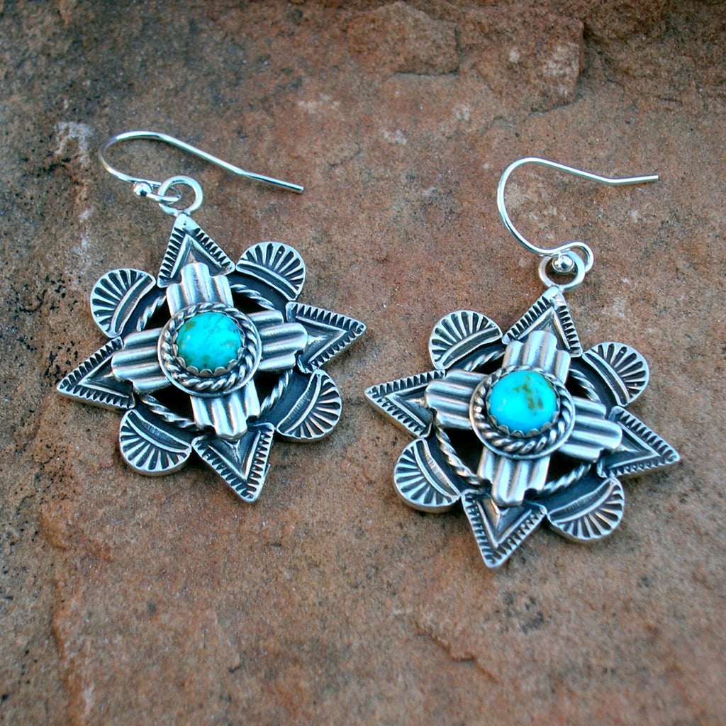 Zia Symbol Over Mission Window Earrings