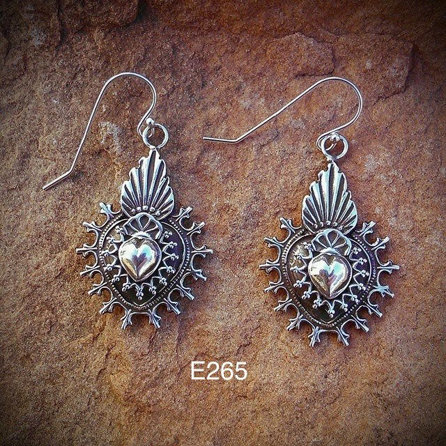 SALE E265 Mesilla Taos Overlay Earrings