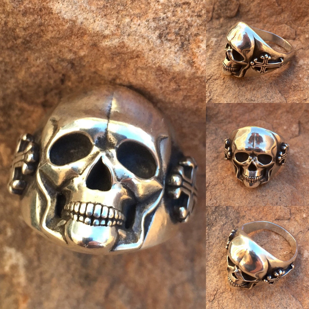 Large 25mm Skull with Cross Ring