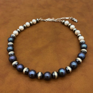 PN1 Black and White Pearl Necklace