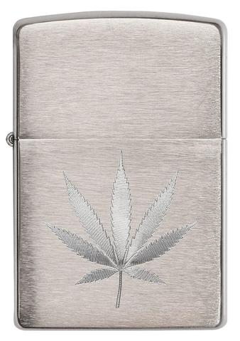 Chrome Marijuana Leaf Design