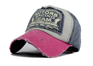 Pink & Blue Women Baseball Hat