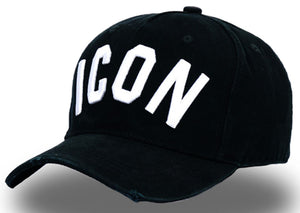 ICON Black & White Unisex Baseball Cap