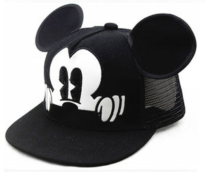 Mickey Style Mesh Black & White Child Baseball Cap