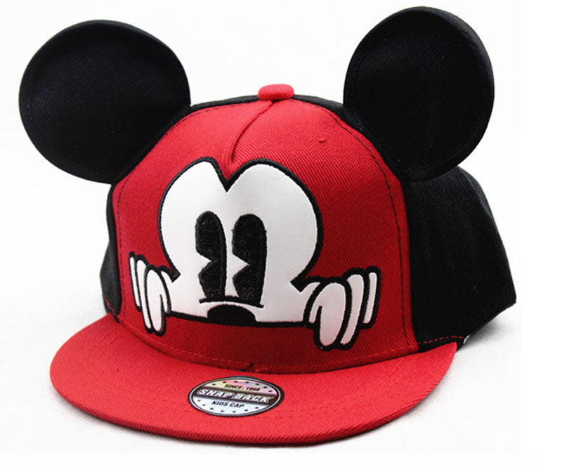 Mickey Style  Mesh Red & Black Child Baseball Cap