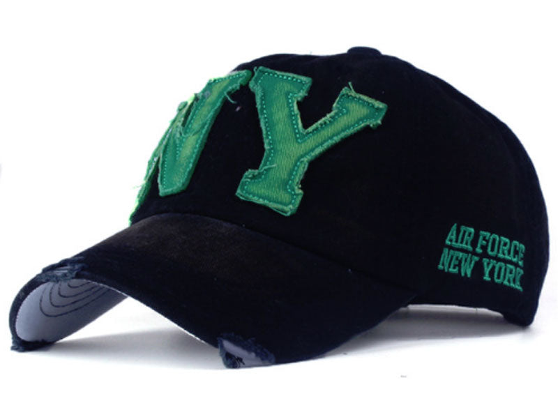 NY Black & Green Unisex Baseball Cap