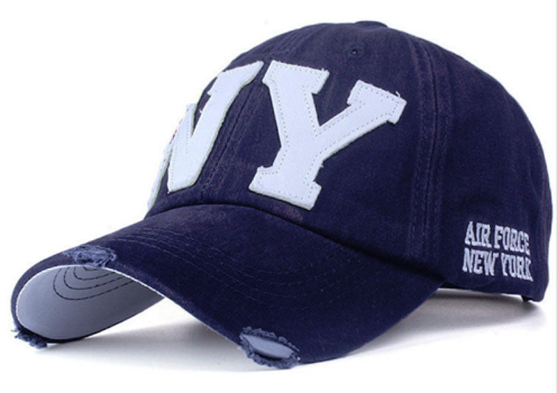 NY Blue & White Unisex Baseball Cap