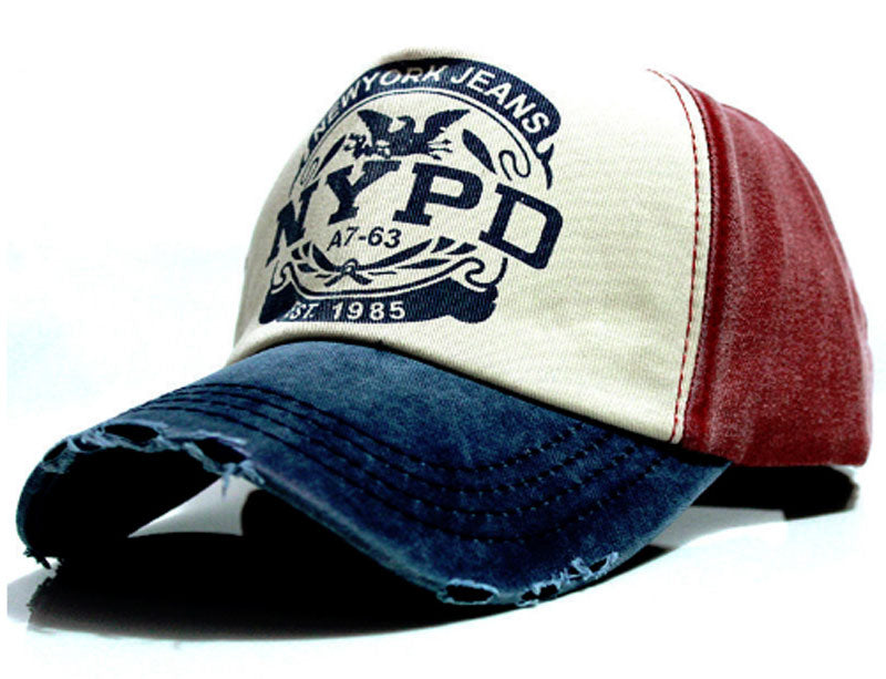 NYPD Men Baseball Cap Red White & Blue
