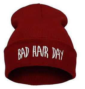 Red Bad Hair Day Winter Beanie Hat for Men&Women
