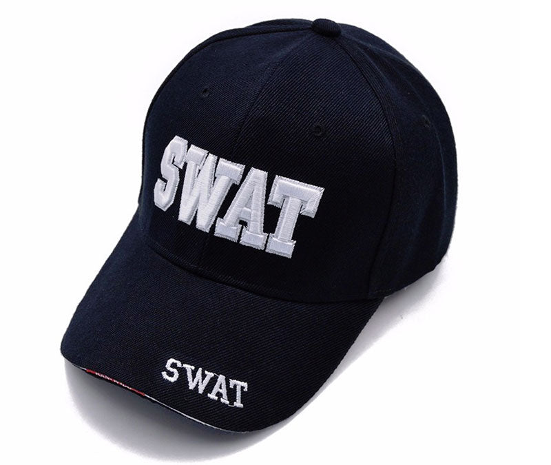 Black & White Swat Men Baseball Cap
