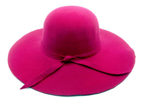 Hot Pink Ladies Beach Hat