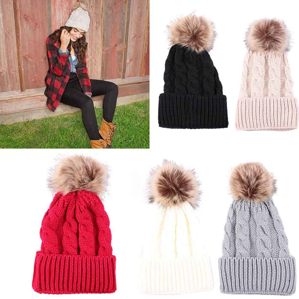 Trendy Fashionable  Knitted Wool Women Hat