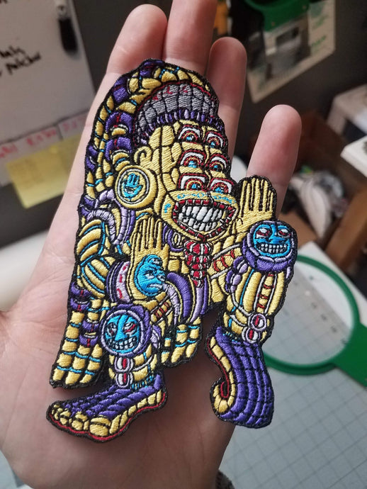 Dancing God 4inch patch (HOOK VELCRO)