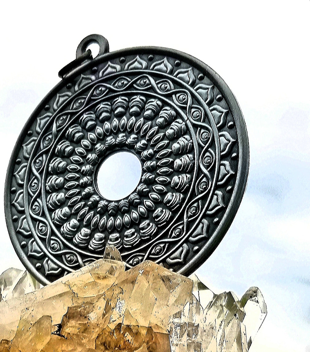 Wheel of Sight Antique Silver Pendant