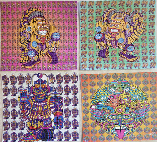 4 Pack Blotter Art