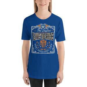 Live To Ride USA Women's T-shirt - Avail. Black, Olive, Navy, Blue