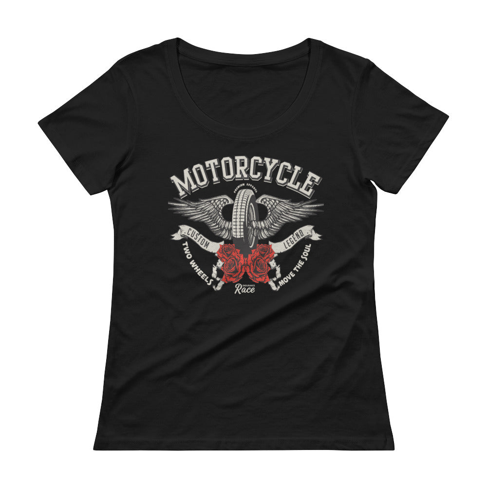 Two Wheels Move The Soul Scoop Neck T-Shirt