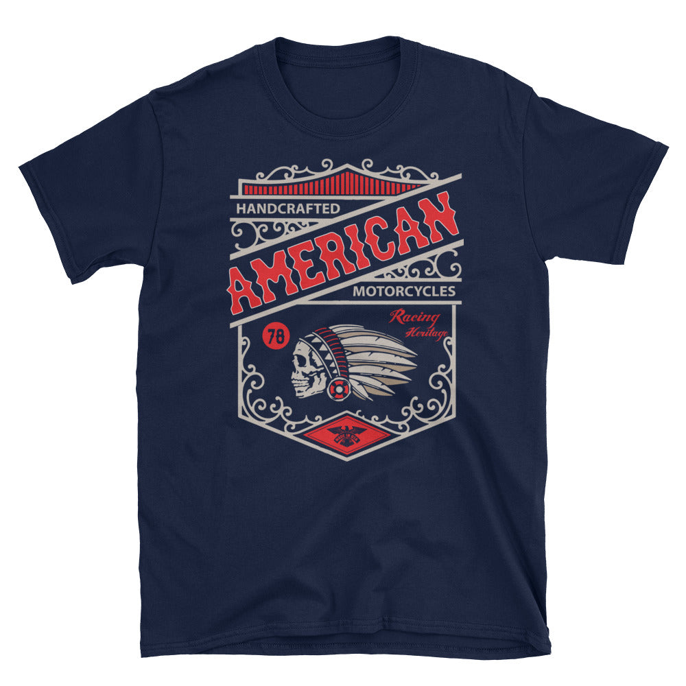 Legend45 Biker t-shirts, motorcycle apparel, American Custom Motorcycles. Live 2 ride. Navy