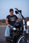 Legend45 Biker t-shirts, motorcycle apparel, Live 2 ride. Black