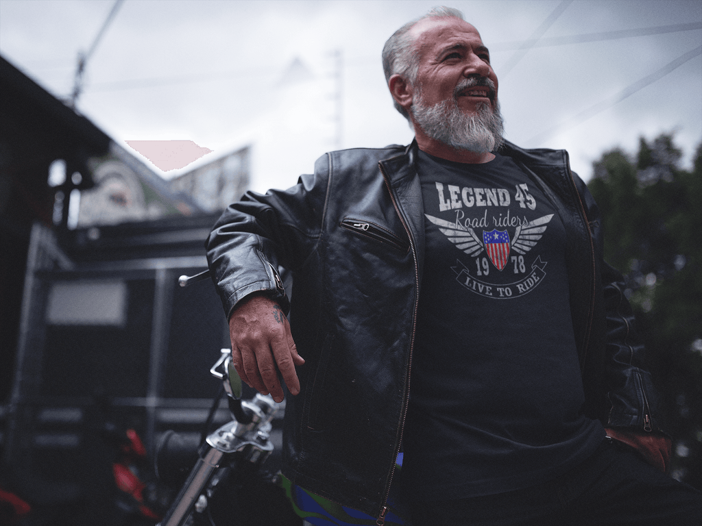 Legend45 Biker t-shirts Motercycle Apparel Road Riders Live To Ride