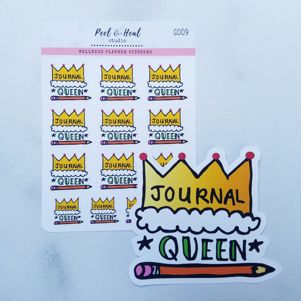 Journal Queen - Stickers or Die Cut