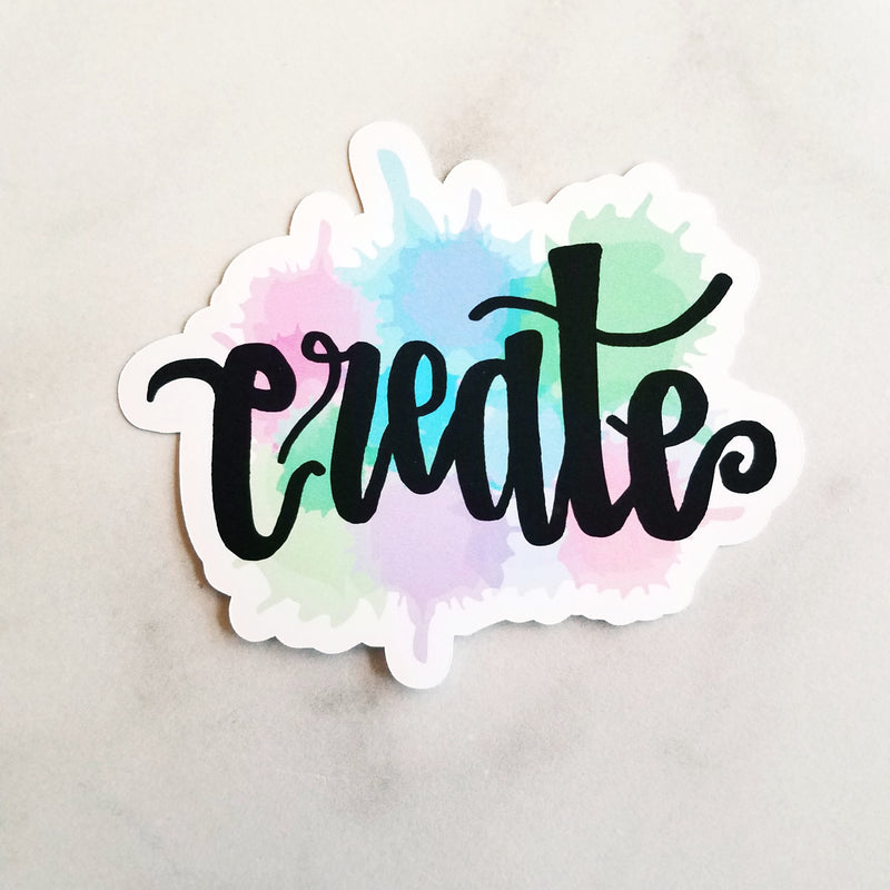 Create Watercolor Die Cut (2 color options)