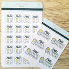AM/PM Medication Trackers - 3 formats - Peel & Heal Studio-Stickers