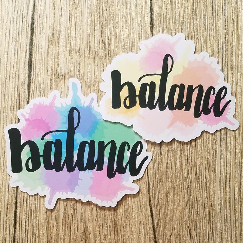 Balance Watercolor Die Cut (2 color options) - Peel & Heal Studio-Die Cut