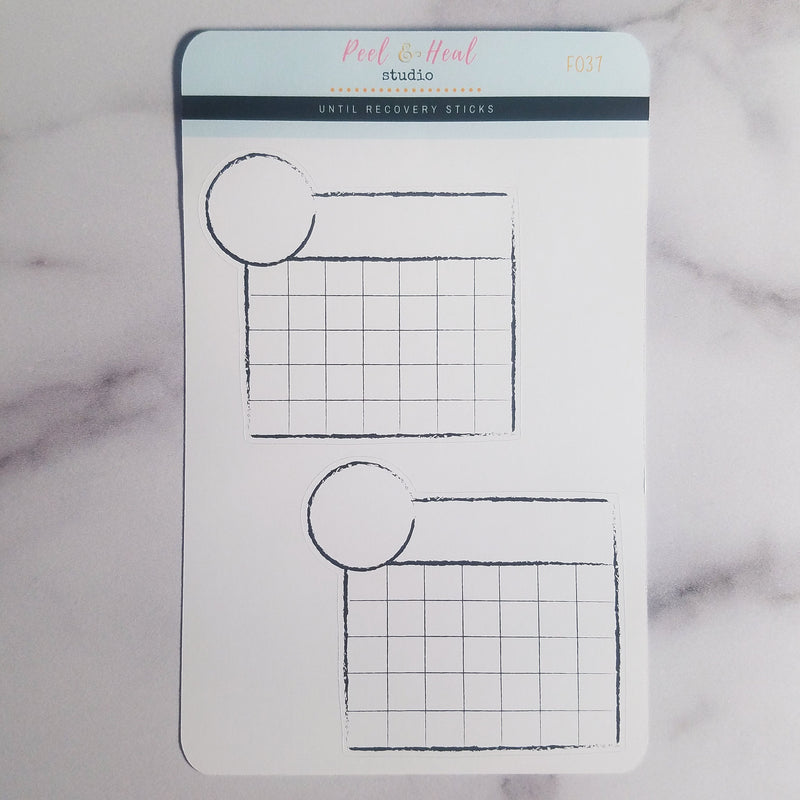 Blank Calendar Monthly Habit Trackers - Peel & Heal Studio-Stickers