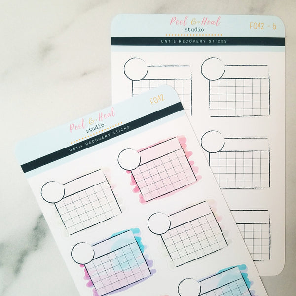 Blank Monthly Calendars - SMALL - Peel & Heal Studio-Stickers