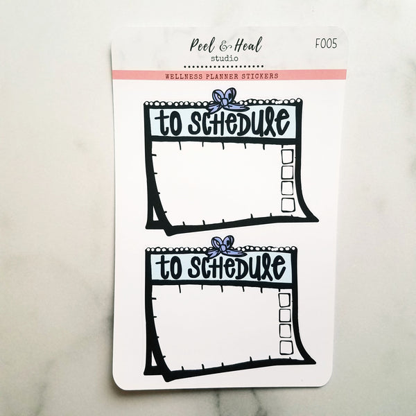 "Calendar ""To Schedule"" Stickers - Peel & Heal Studio-Stickers"