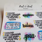 Chill, Then Fulfill: Sticker Sheets - Peel & Heal Studio-Stickers