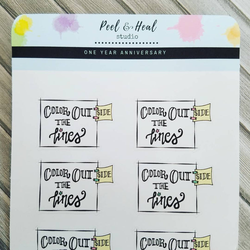 Color Outside the Lines - Peel & Heal Studio-Stickers