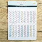 Dashed Checklists - Neutral or Colorful - Peel & Heal Studio-Stickers